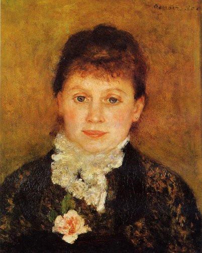 Mulher com Jabô Branco, obra de Renoir. Descrição no corpo do texto.