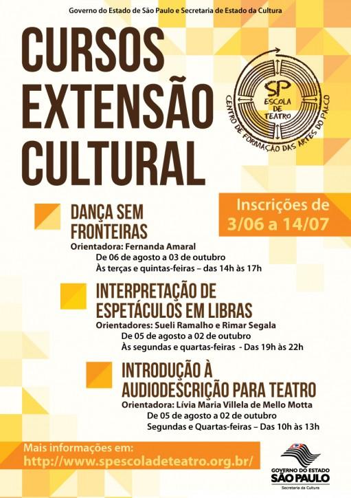 CONVITE CURSOS DE EXTENSÃO SP ESCOLA DE TEATRO
