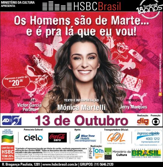 Flyer OS HOMENS SÃO DE MARTE. Descrição ao final da página