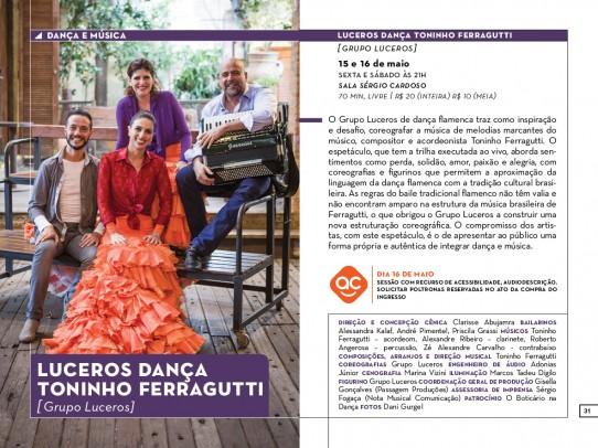 CONVITE LUCEROS DANÇA FLAMENCA. Descrição do flyer no final do post.