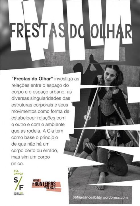 E-FLYER FRESTAS DO OLHAR. DESCRIÇÃO NO FINAL DO POST.